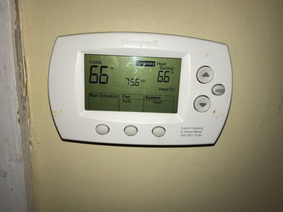Philomath, OR - Honeywell thermostat