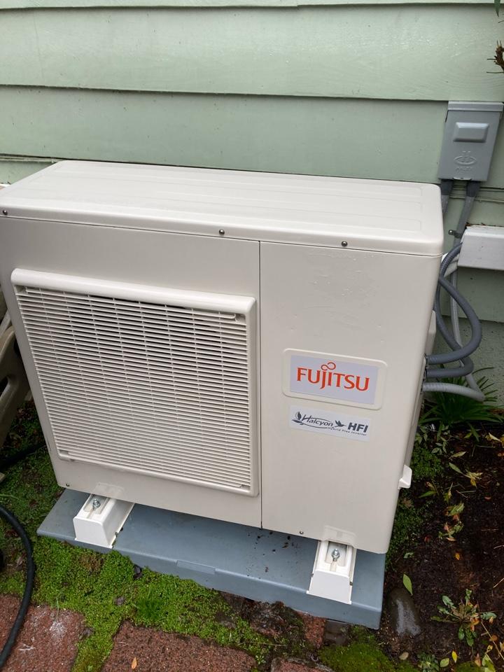 Eugene, OR - Fujitsu ductless heat pump maintenance tuneup