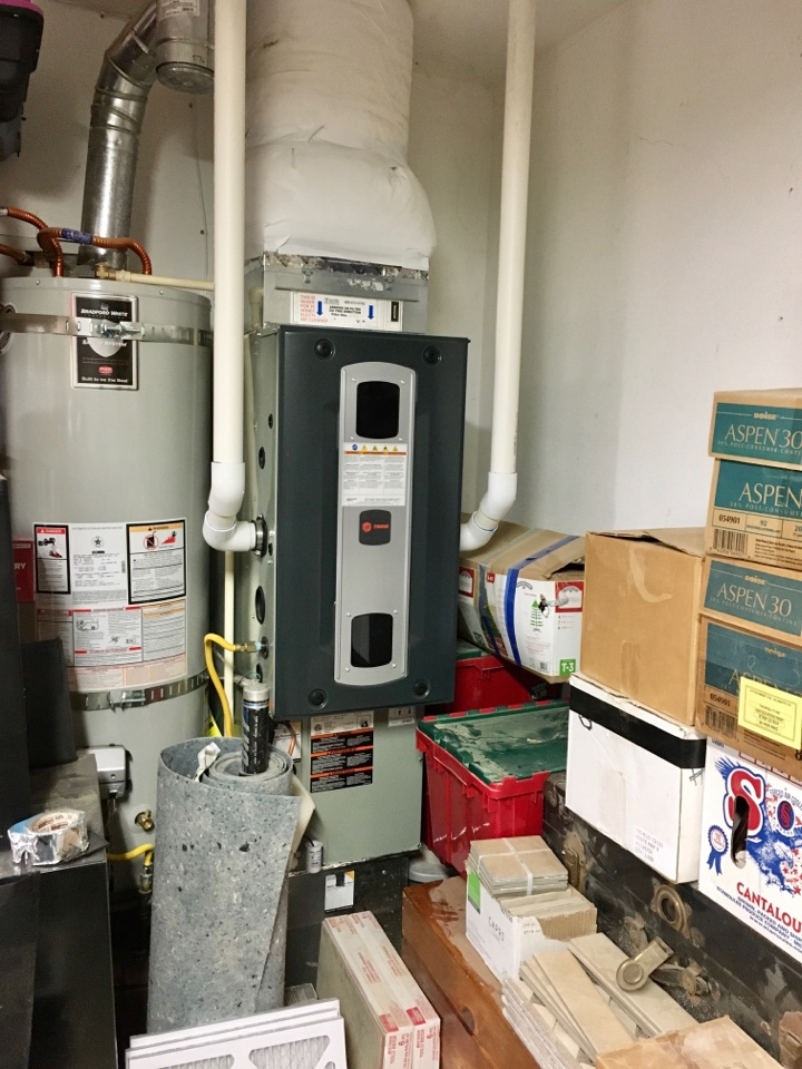 Monmouth, OR - First year free inspection on a Trane gas furnace and air conditioner. Heating and cooling.