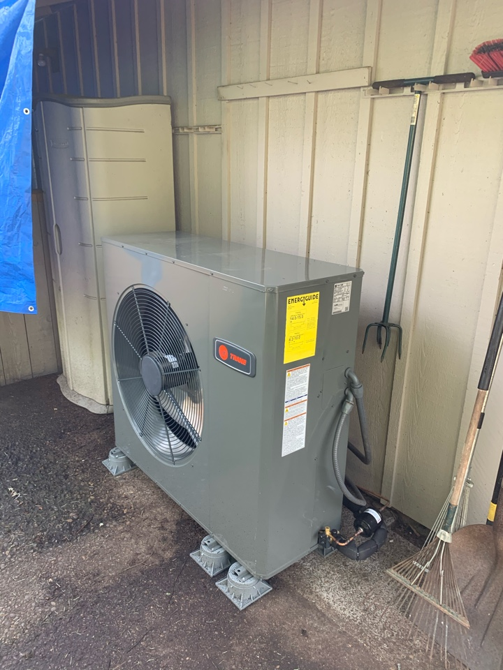 Replace heat pump system