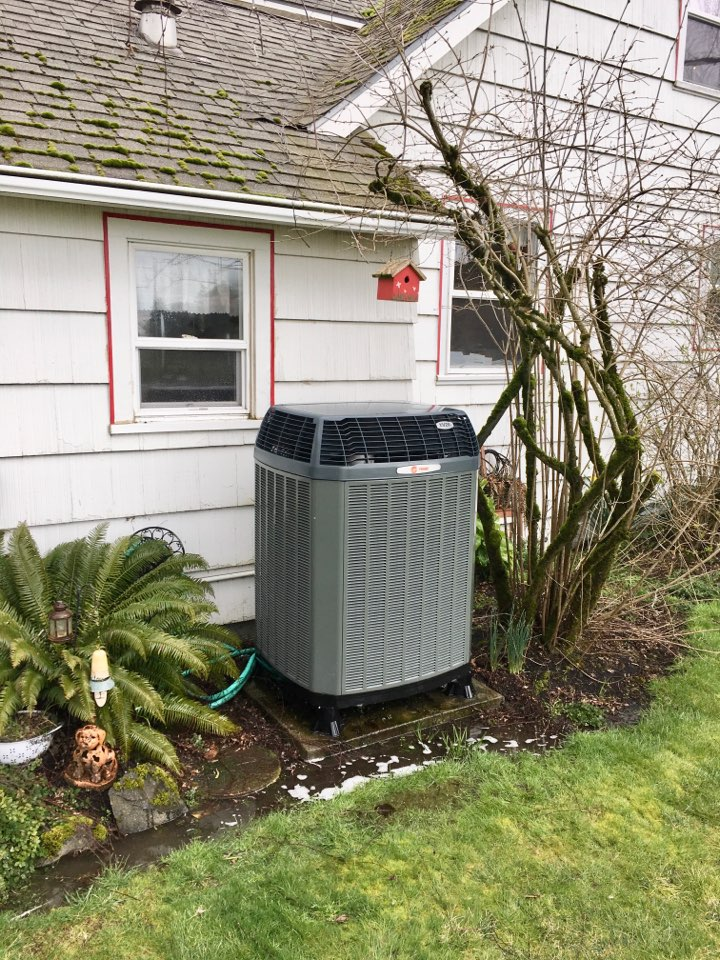 Halsey, OR - Performing a maintenance service call. Tune up on a Trane gas furnace and variable speed heat pump. Heating and cooling.