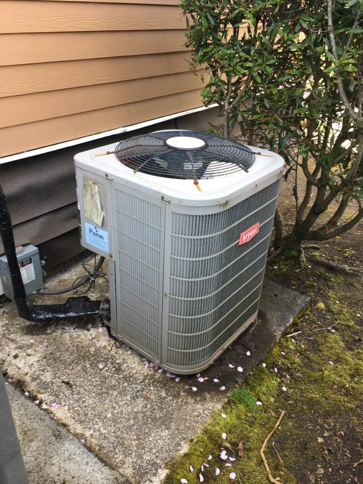 Newport, OR - Performing a maintenance service call. Cooling tune up on a Lennox air conditioner.