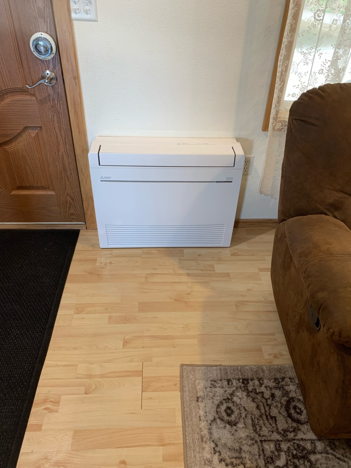 Philomath, OR - New Ductless Heat Pump install