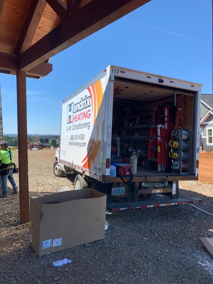 Salem, OR - Heat pump air handler install