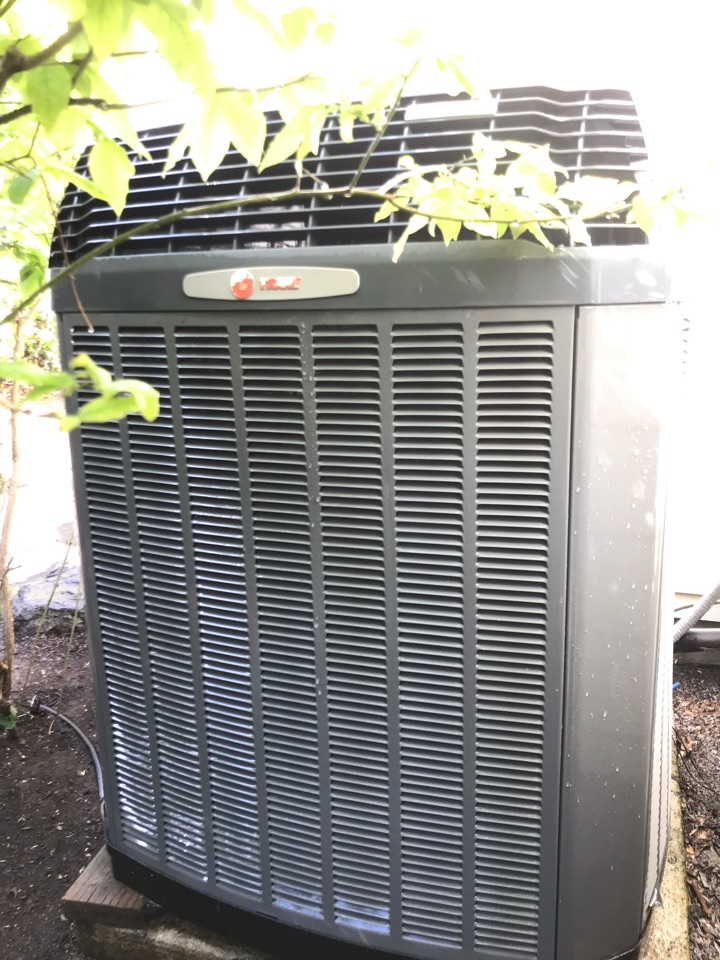 Corvallis, OR - Air conditioning maintenance on a Trane HVAC system