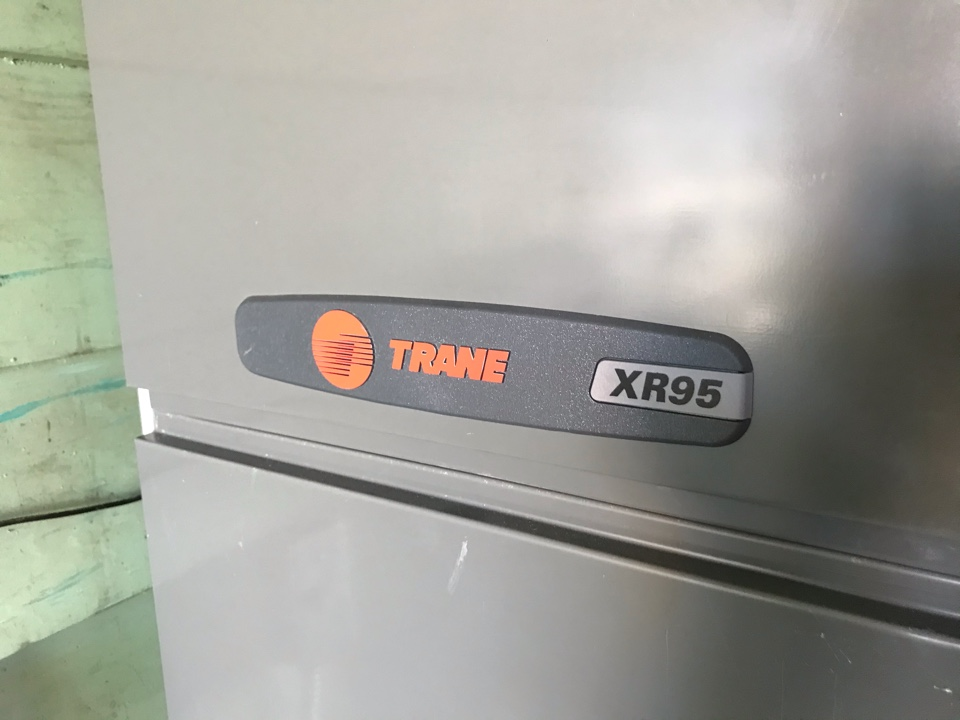 Albany, OR - Trane side discharge air conditioner installation adding onto an existing Trane gas furnace.