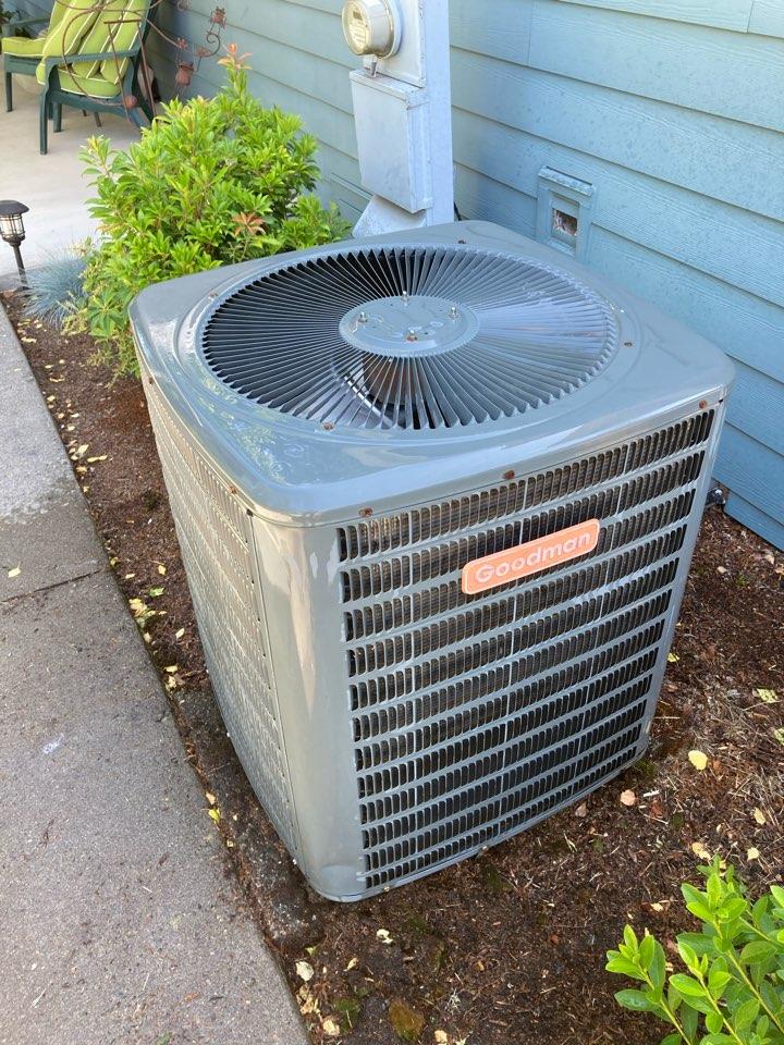 Salem, OR - Goodman heat pump maintenance tuneup