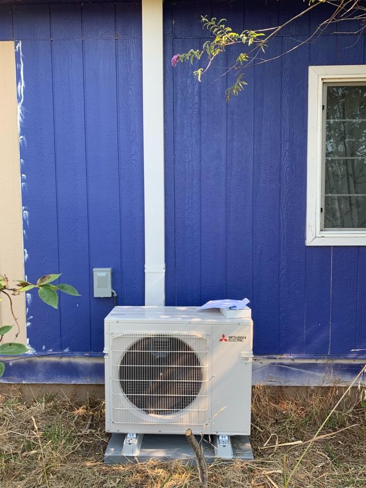 Lebanon, OR - New Mitsubishi heat pump installed