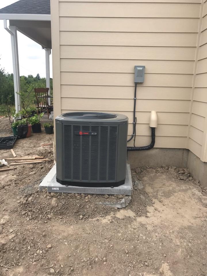Philomath, OR - Trane air conditioner installation.