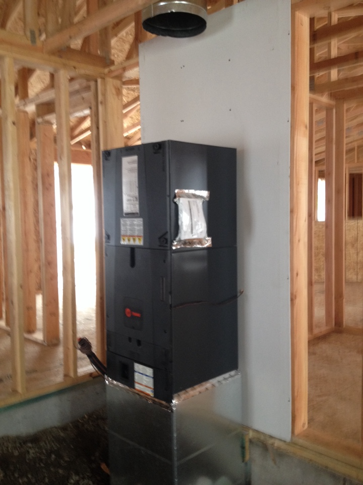 Veneta, OR - Trane air handler install new construction