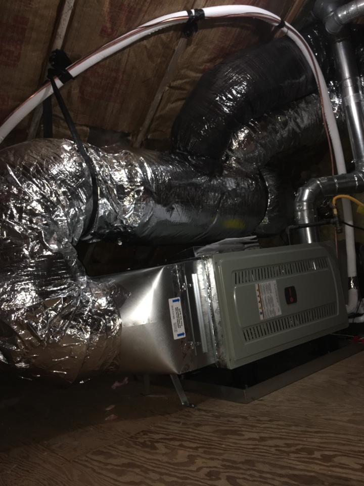 Lebanon, OR - Trane gas furnace and air conditioner install