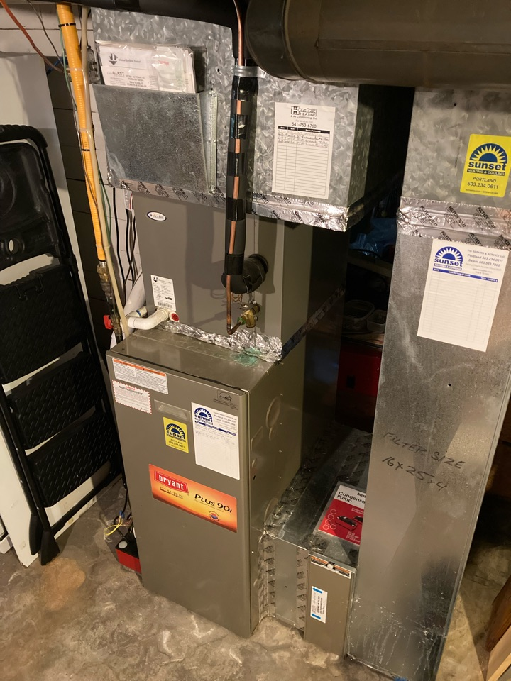 Salem, OR - Bryant furnace maintenance tuneup