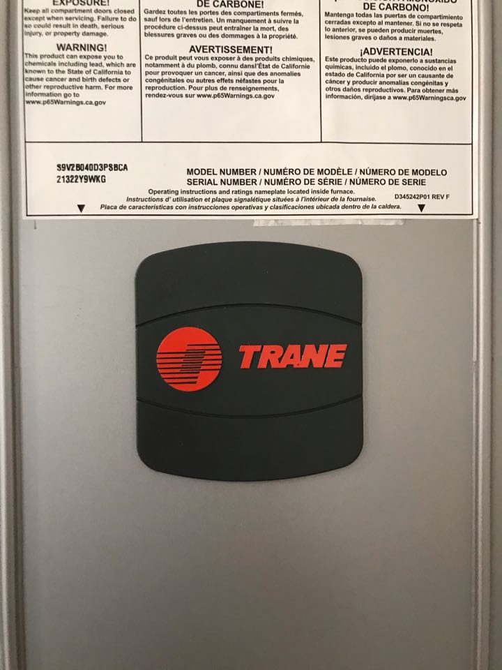 Albany, OR - Trane gas furnace and AC installation.