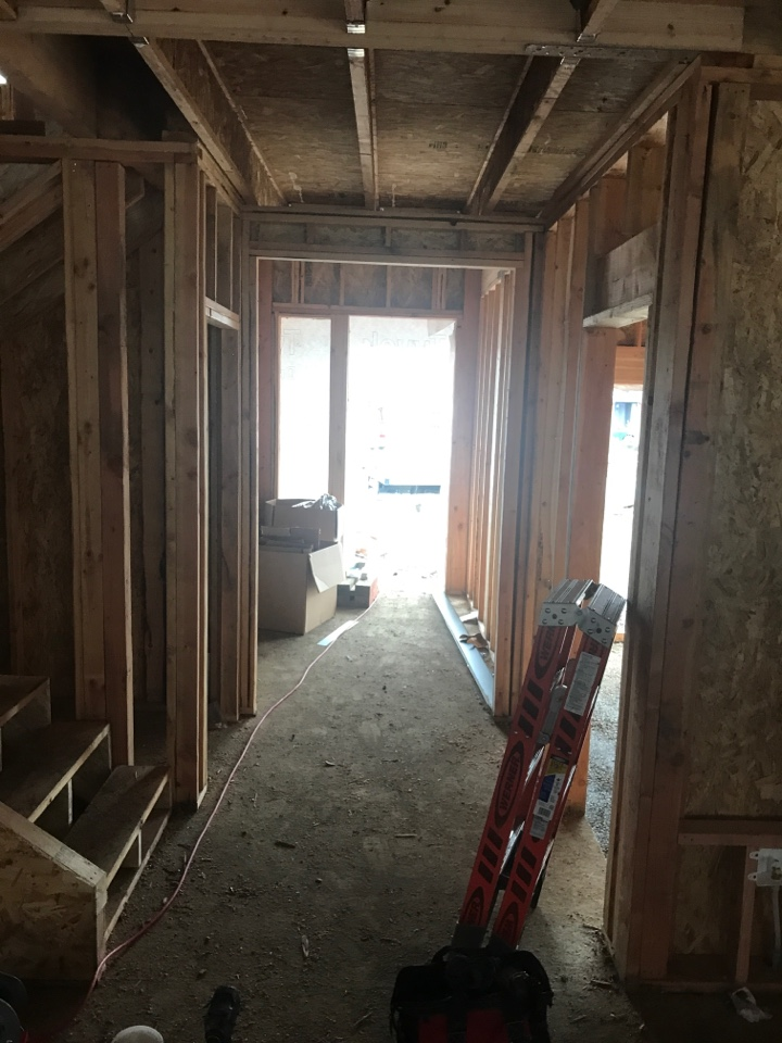 Corvallis, OR - Installing duct work