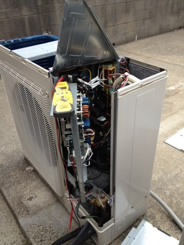 Pacific City, OR - Fujitsu multi flex ductless heat pump repair. Commercial server room cooling.