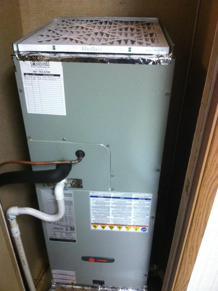 Toledo, OR - Install of trane air handler and heat pump