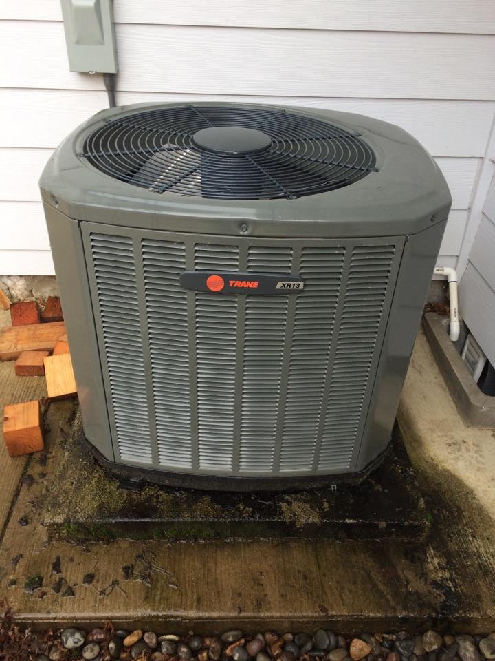 Alsea, OR - Add refrigerant to a Trane heat pump.
