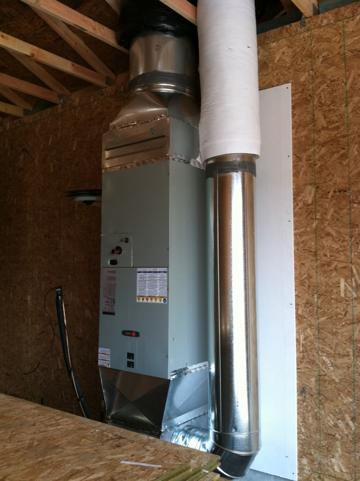 Scio, OR - Installed furnace and ductwork in new home.
