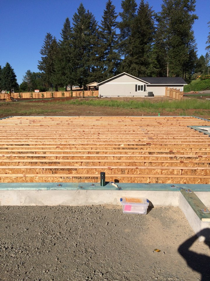 Marcola, OR - Underfloor rough in (new construction)