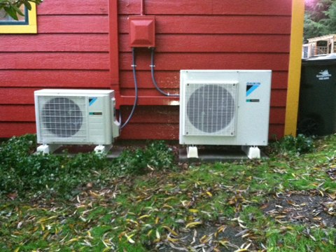 Cheshire, OR - Performing a maintenance service call. Heating tune up on 2 Daikin Ductless Heat Pumps.