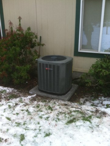 Blodgett, OR - Trane heat pump installation.