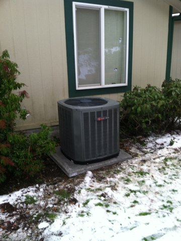 Blodgett, OR - Install Trane heatpump and air handler