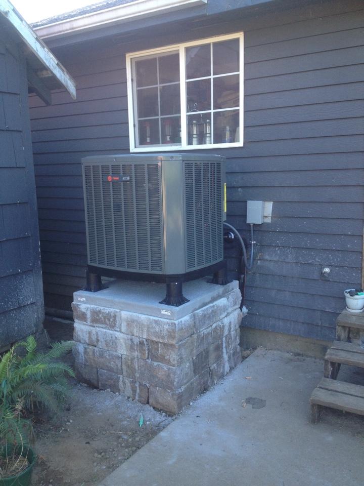 Alsea, OR - Trane heat pump and air handler install