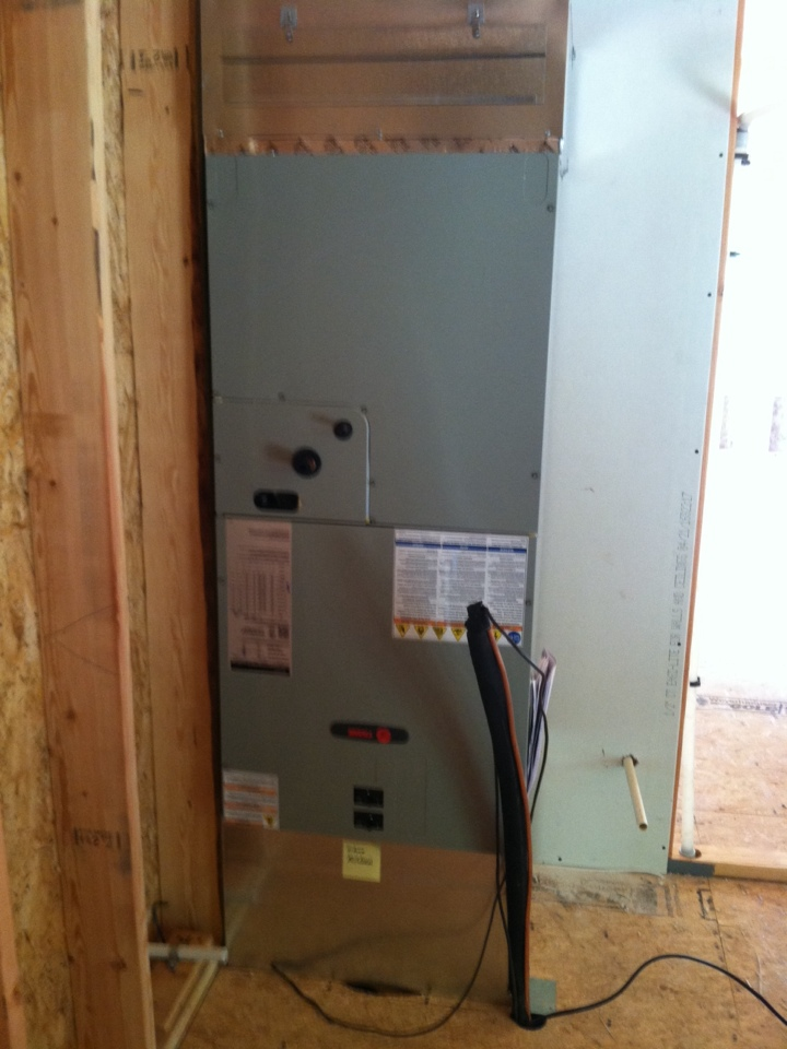 Oregon City, OR - Installed air handler in new home.