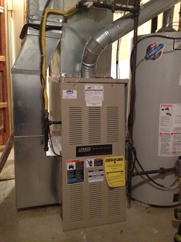 lennox oil furnace. avon, ct - heating maintenance on a lennox hot air furnace oil