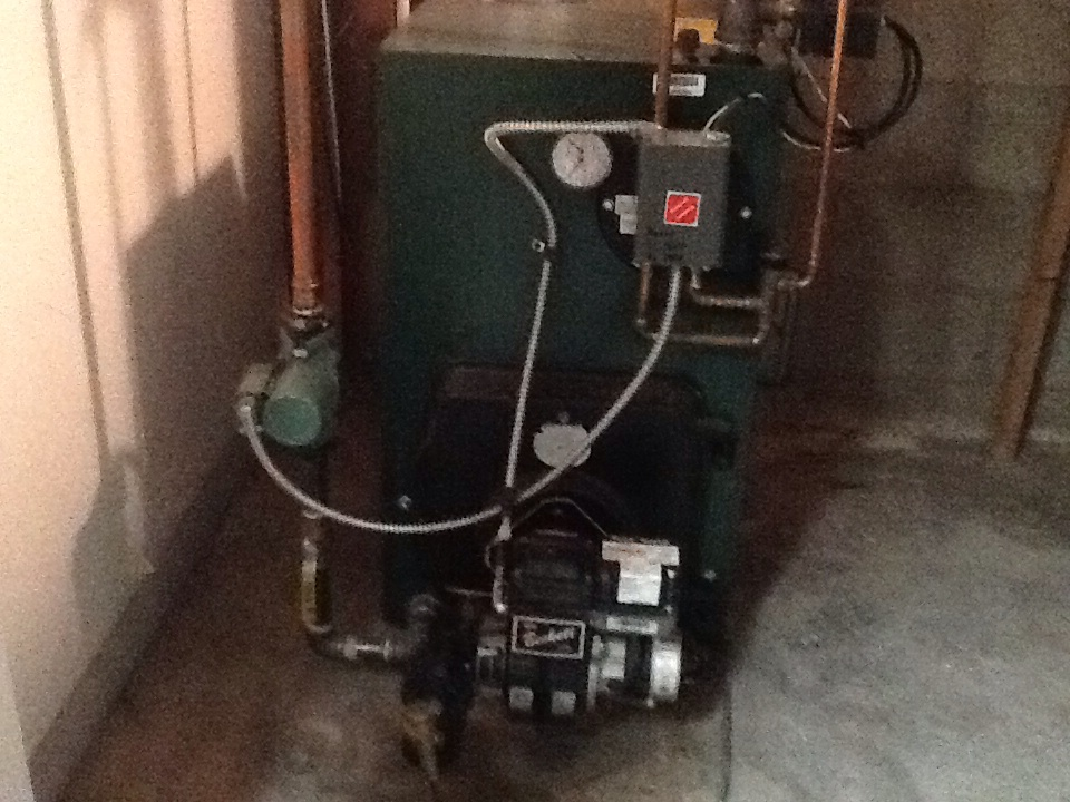 Cromwell, CT - Servicing an oil boiler
