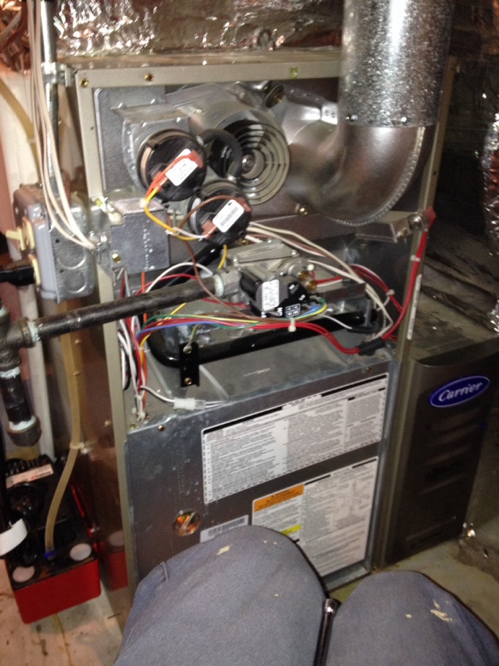 Bristol, CT - Diagnose loud noise when furnace shuts down , estimate for high efficiency air cleaner