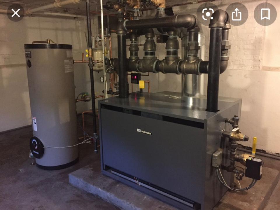 West Hartford, CT - Replace original 1900's coal gravity cast iron oil boiler to natural gas, with asbestos removal