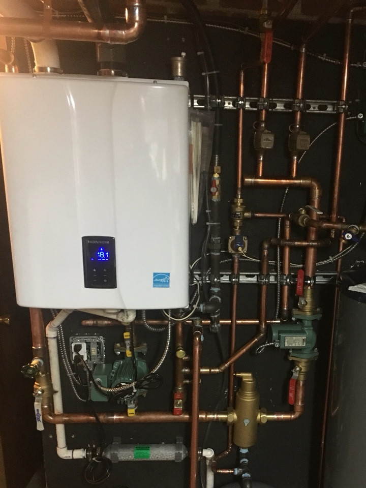 Newington, CT - Replace 80% chimney vented gas boiler and water heater with a new gas combi
