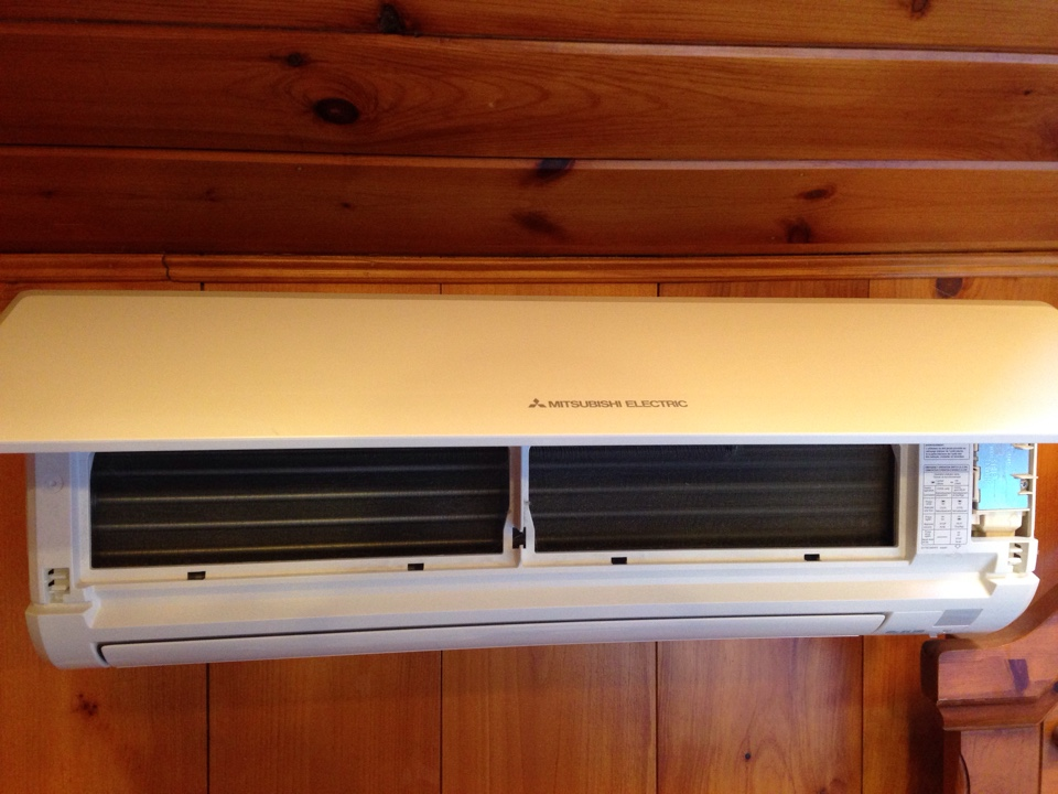 Middlefield, CT - Preventative maintenance on a Mitsubishi mini split ductless ac heat pump mr slim
