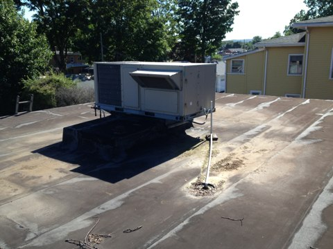 Plainville, CT - Performing a maintenance on 2 roof top heating and ac systems