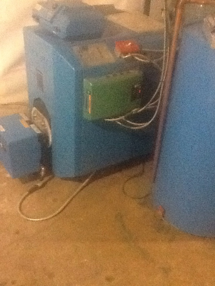Southington, CT - Servicing an oil Buderus G115/5 oil boiler