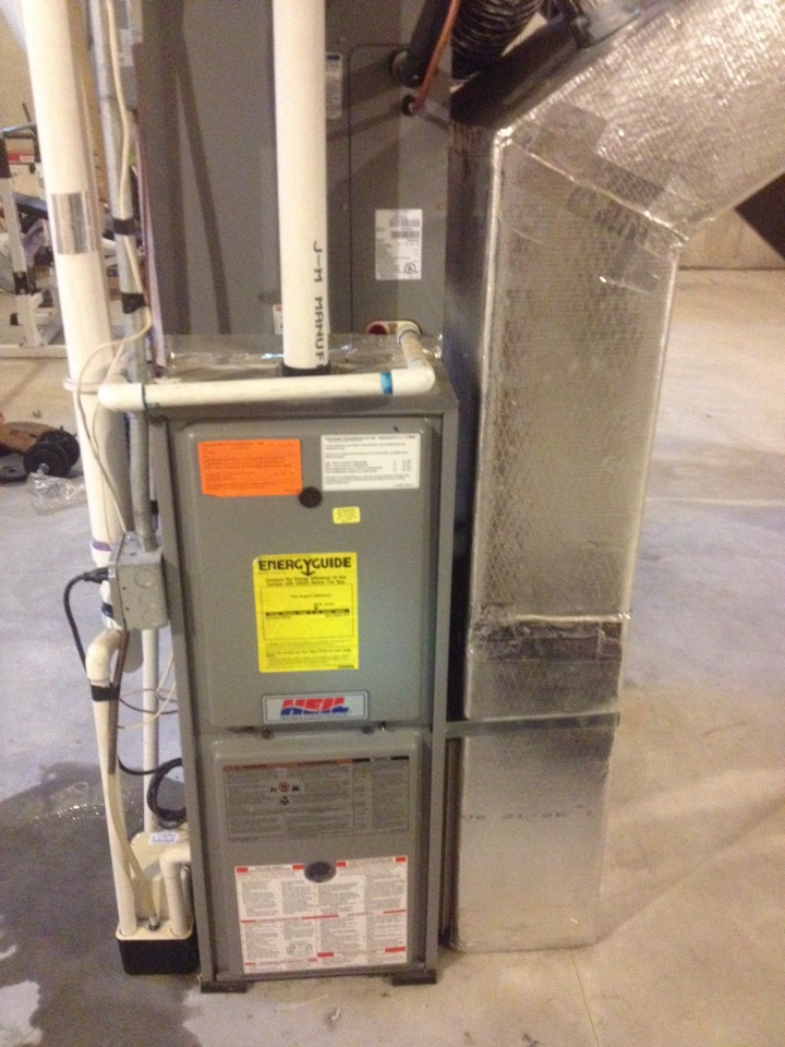 Bristol, CT - Performance tune and service repair up on LP propane gas Heil furnace.