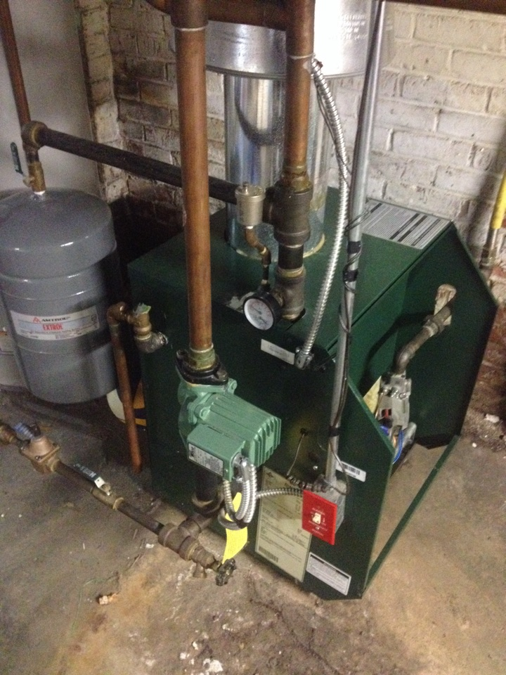 Hartford, CT - Performance tune up, combustion efficiency and carbon monoxide safety inspection on a Williamson gas boiler.