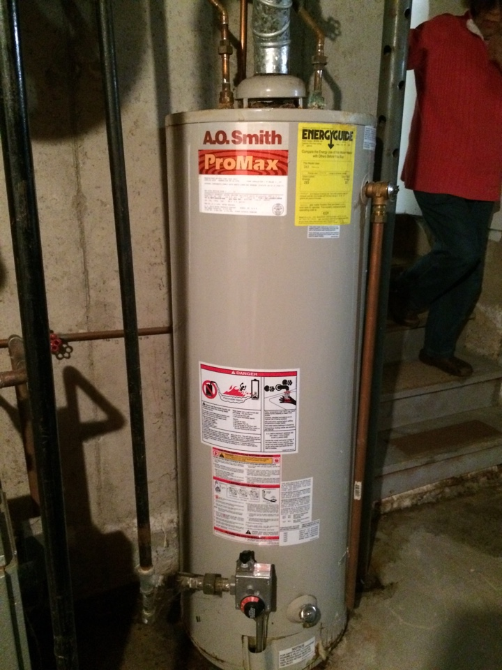 Plainville, CT - Quote customer a natural gas water heater replacement.
