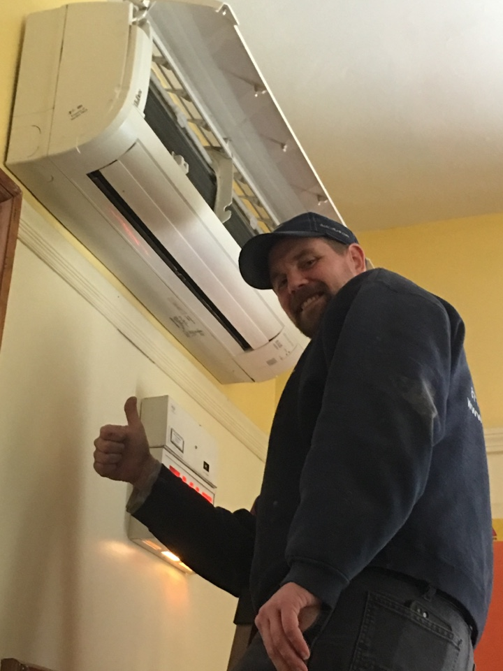 Meriden, CT - Preventive maintenance on 18 Mitsubishi heat pump mini splits