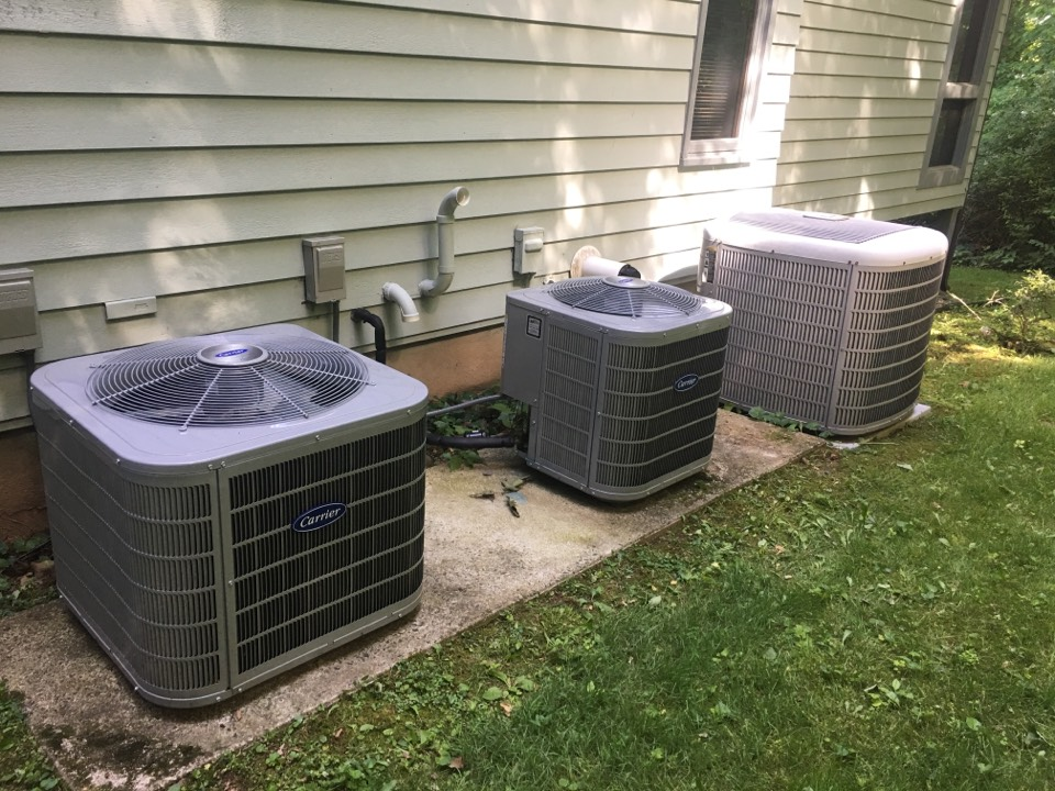 Bloomfield, CT - Preventative maintenance on (3) Carrier AC split systems.