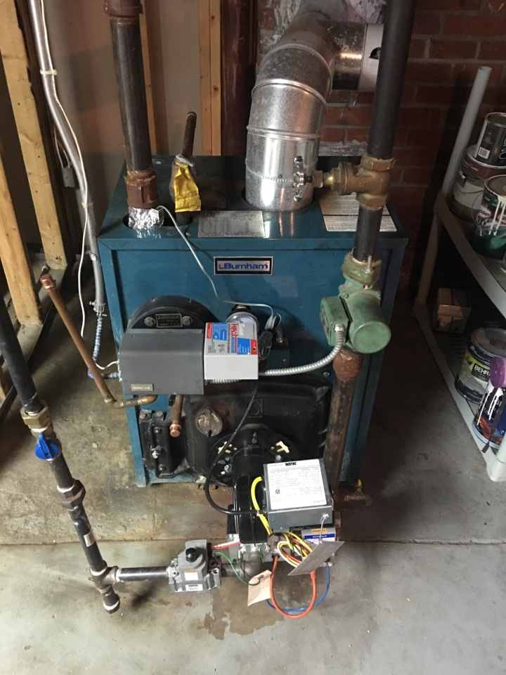 Plainville, CT - Preventative maintenance on conversion gas burner boiler and gas water heater.