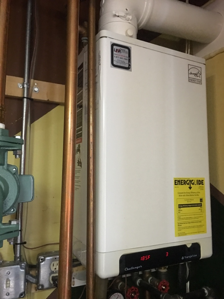 Rocky Hill, CT - Performance tune up on Triangle Tube Condensing gas boiler.