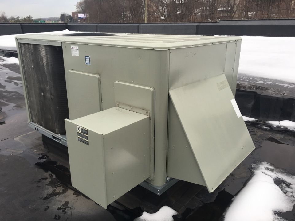 New Britain, CT - Midseason filter change and inspection on two Trane rooftop units.