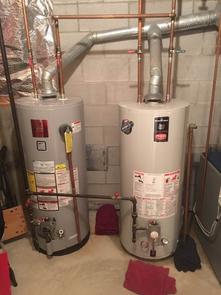 Newington, CT - Performed water heater service call. Removal of leaky water heater.