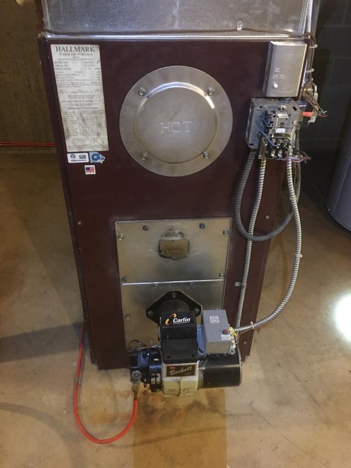 Farmington, CT - Heat tune up on oil furnace.