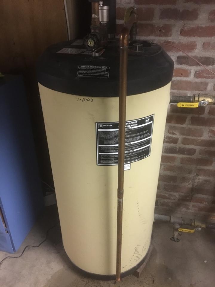 West Hartford, CT - Water leak repair on indirect water heater.