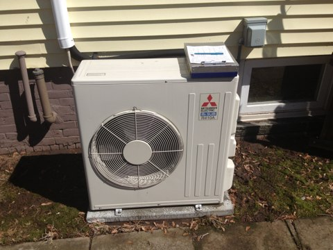 Meriden, CT - Doing A/C maintenance on ductless split heat pumps