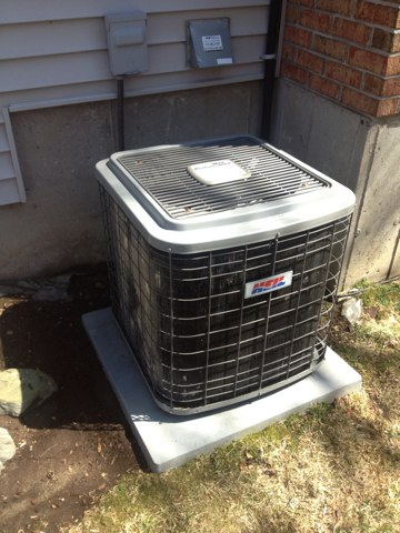 Burlington, CT - Central AC tune-up on ducted split system Heil Hac024aka1