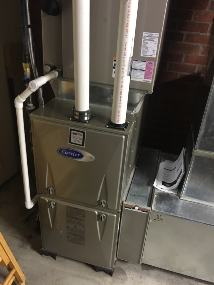 West Hartford, CT - Performance tune up on Carrier gas furnace an AO Smith water heater.